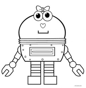 Robot Coloring Pages Printable Cute Cupcake Robot