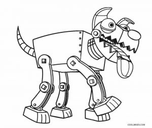 Robot Coloring Pages Printable Dog Robot