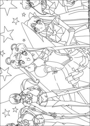 Sailor Moon and Friends Coloring Pages Girl Heoes Assemble