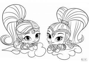 Shimmer and Shine Coloring Pages Free nml9