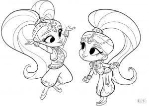 Shimmer and Shine Coloring Pages Free vzy3