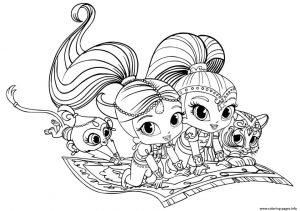 Shimmer and Shine Coloring Pages Online ujl4