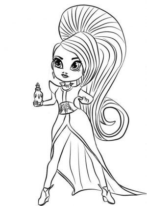 Shimmer and Shine Coloring Pages for Kids ggn8