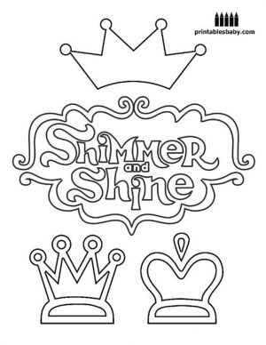 Shimmer and Shine Coloring Pages for Kids uuv6