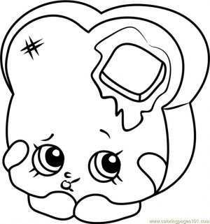 Shopkins Coloring Pages Food Toastie Bread