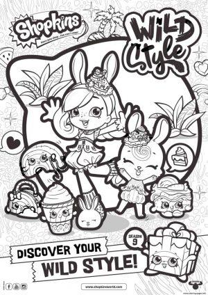 Shopkins Coloring Pages Printable Wild Style Shopkins Season 9