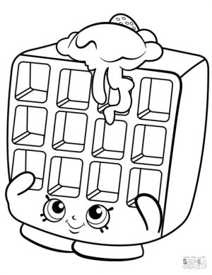 Shopkins Coloring Pages Waffle Sue