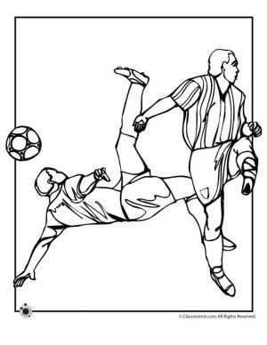 Soccer Coloring Pages Kids Printable – hfl3m
