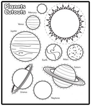 Solar System Coloring Pages for Preschoolers cto2