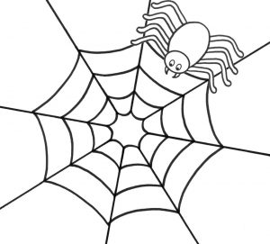 Spider Making Web Coloring Page Free Printable sw71