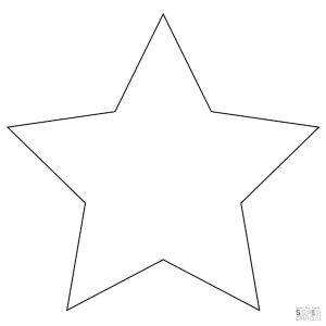 Star Coloring Pages for Preschoolers