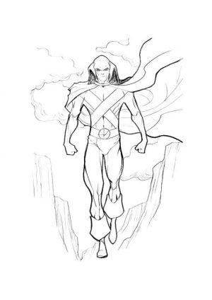 Superhero Coloring Pages Preschool Martian Manhunter