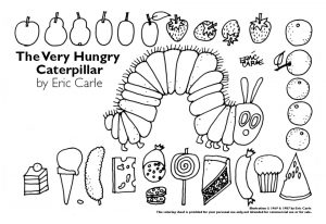 The Very Hungry Caterpillar Coloring Pages Free for Kids – 74821