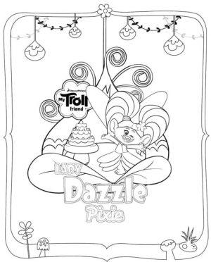 Trolls Coloring Pages Lady Dazzle Pixie