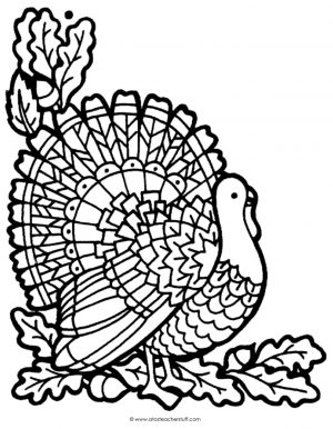 Turkey Coloring Pages for Adults – 66310