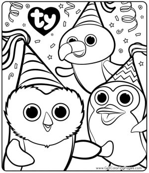 Ty Beanie Boo Coloring Pages Online 3ufz