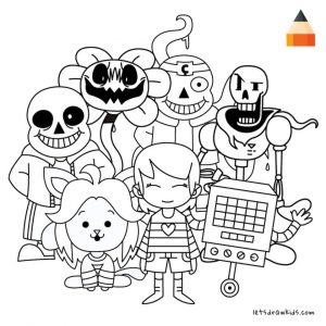 Undertale Coloring Pages Free Printable 9tgt