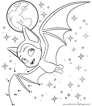 Vampirina Coloring Pages Vampirina Flying as Bat
