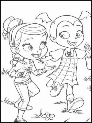 Vampirina Coloring Pages Vampirina Playing with Poppy