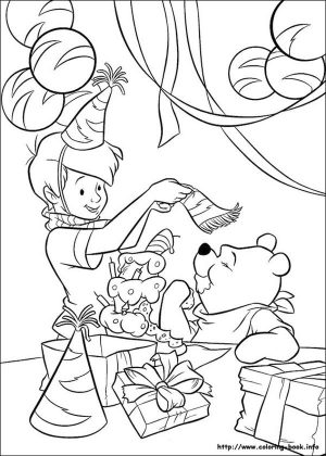 Winnie the Pooh Coloring Pages Cute Christopher Robin and Pooh