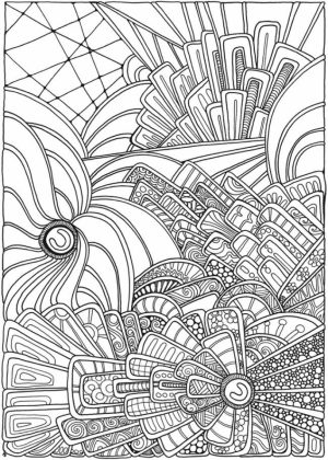Abstract Coloring Pages to Print for Grown Ups   85692