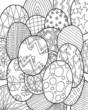 Adults Printable Easter Egg Coloring Pages   56371