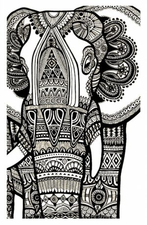 Advanced Elephant Coloring Pages   752985
