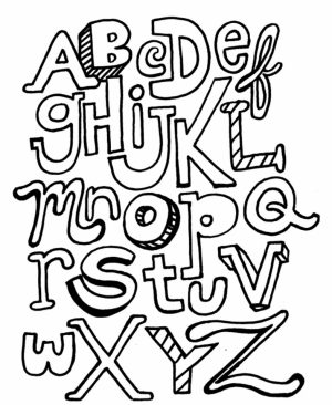 Alphabet Coloring Pages for Kids   72350