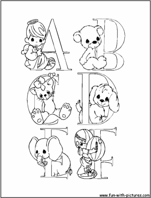 Alphabet Coloring Pages Online Educational Printable   46573