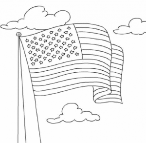 American Flag Coloring Pages Kids Printable   36481