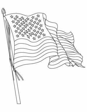 American Flag Coloring Pages Kids Printable   3750