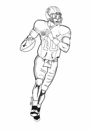 American Football Player Coloring Pages Kids Printable   67321