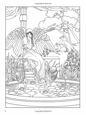 Angel Fantasy Coloring Pages for Adults   DF57V