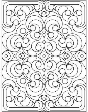 Art Deco Patterns Coloring Pages for Grown Ups   bnm7998