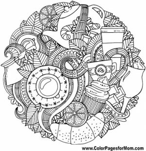 Autumn Coloring Pages for Adults Free Printable   9nm7v6