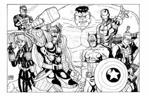 Avengers Coloring Pages Boys Printable   31758