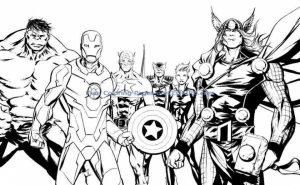 Avengers Coloring Pages Boys Printable   41648