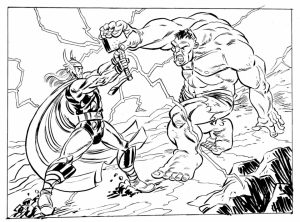 Avengers Coloring Pages Thor and Hulk   67381