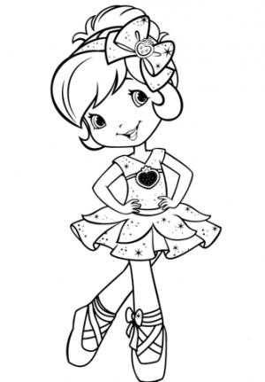 Ballerina Coloring Pages for Kids   45830