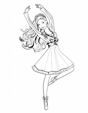 Beautiful Ballerina Coloring Pages   22753