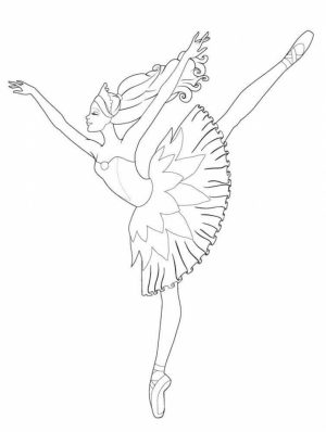 Beautiful Ballerina Coloring Pages   556734