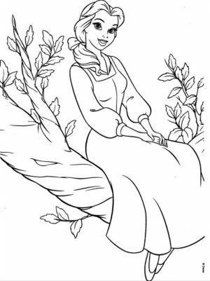 Belle Disney Princess Coloring Pages Printable   64528