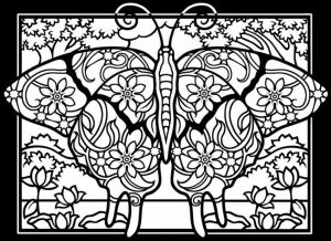 Butterfly Coloring Pages for Adults Free   1at40