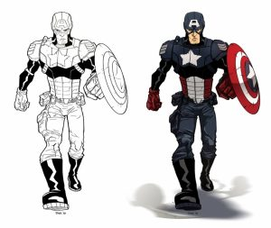 Captain America Coloring Pages Marvel Avengers   85621