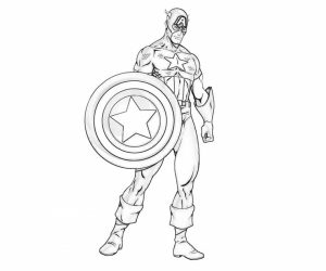 Captain America Coloring Pages Printable   19042