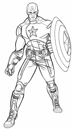 Captain America Coloring Pages Superheroes Printable for Kids   31642