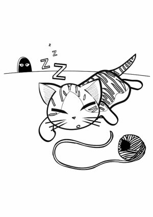 Cat and Kitten Coloring Pages Free to Print   4gd91