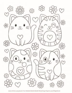 cat coloring pages for children 6df31