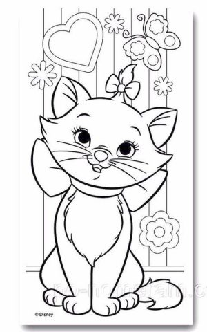 cat coloring pages for children 850rt