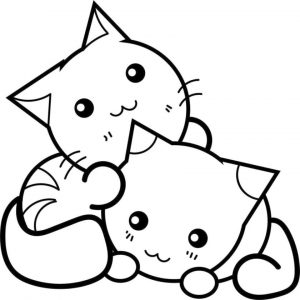 cat coloring pages for kids ydg43